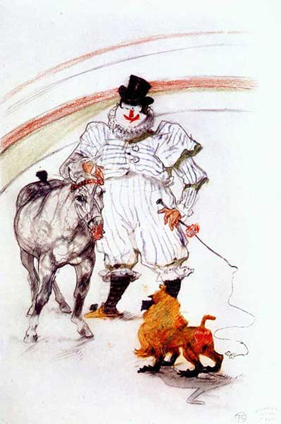 At The Circus by Toulouse-Lautrec